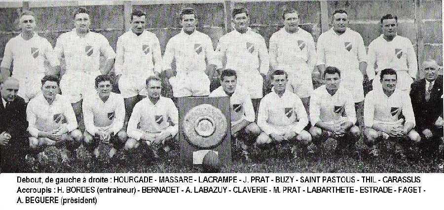 Lourdes, champion de France de rugby 1948