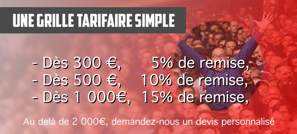 Boutique Multi-Sports: Des prix dégressifs dès 300 €