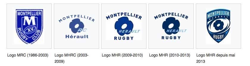 Blasons du montpellier hérault rugby