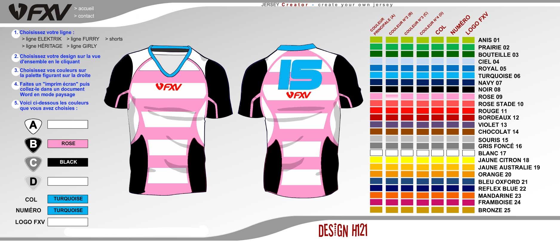 Logiciel création maillot de rugby