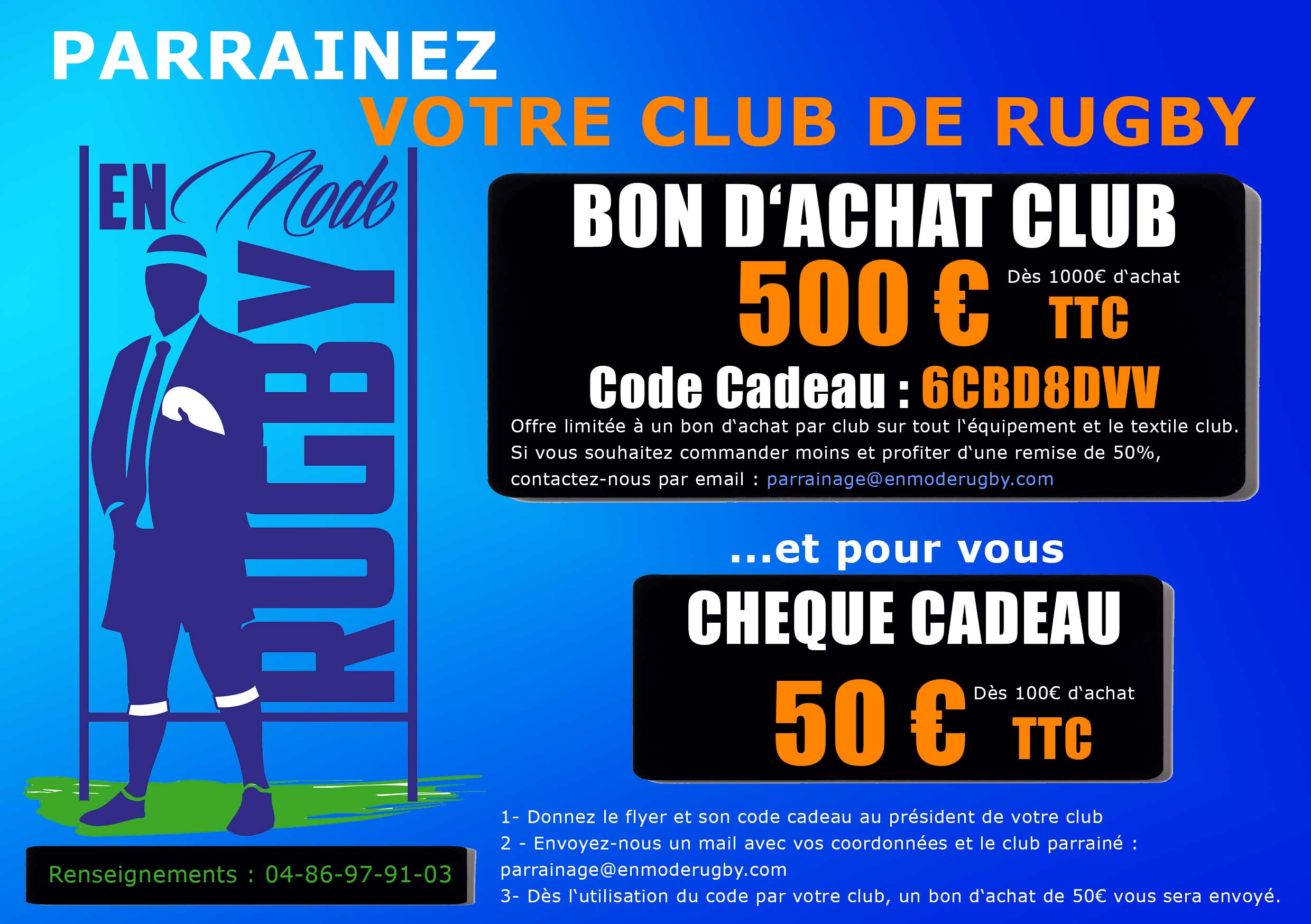 Parrainage club rugby