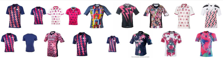 Anciens maillots du Stade Français Paris