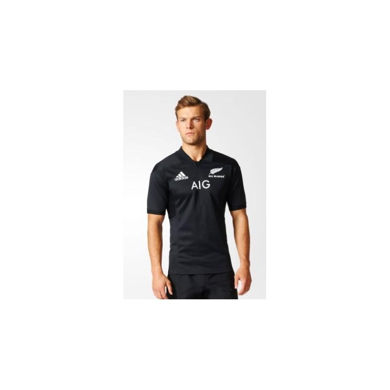 maillot rugby domicile all blacks 2016 2017 adidas. Black Bedroom Furniture Sets. Home Design Ideas