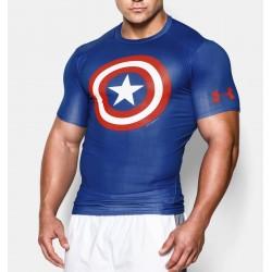 Tshirt Compression Captain America / Under Armour