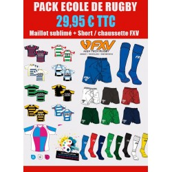 Pack Rugby Maillot-Short-Chaussettes Premier Prix