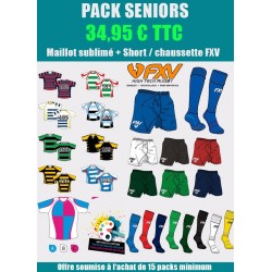 Pack Rugby Senior Maillot-Short-Chaussettes Premier Prix