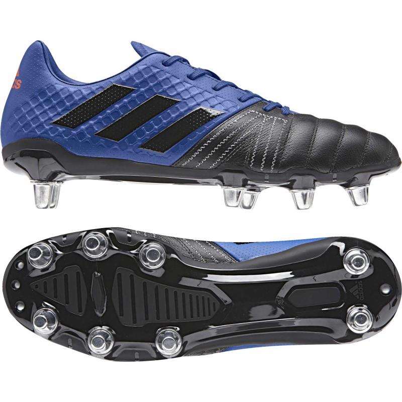 quality design bfed4 0a2ff Chaussures Rugby Kakari Elite SG Bleu-Noir   adidas