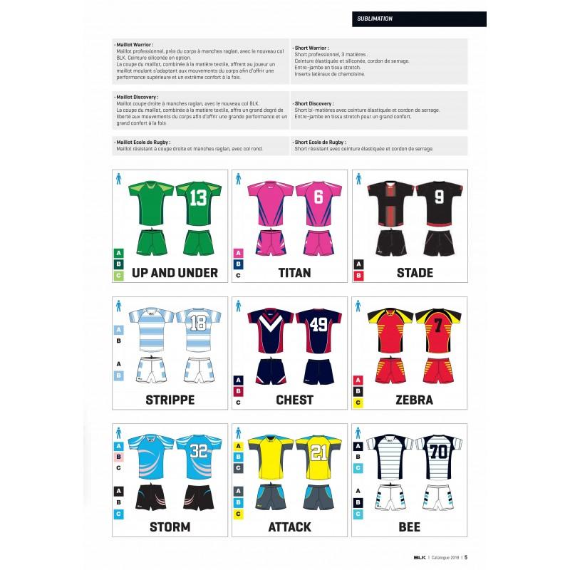 Maillots sublimés pour clubs de rugby / BLK