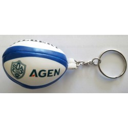 Porte-Clef ballon rugby mousse SU Agen / Gilber