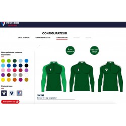 Sweat 1/4 zip SKINI personnalisable / Vestiaire du Sport