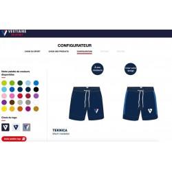 Short Molleton TEKNICA personnalisable / Vestiaire du Sport