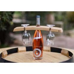 Présentoir 2 verres - 1 bouteille / Millésime Rugb