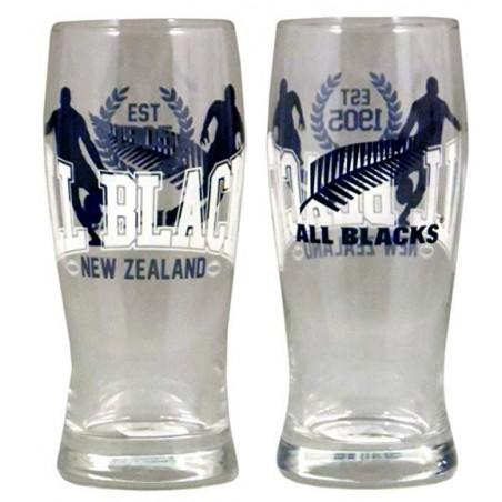 2 verres à bières 30 cl / All Blacks