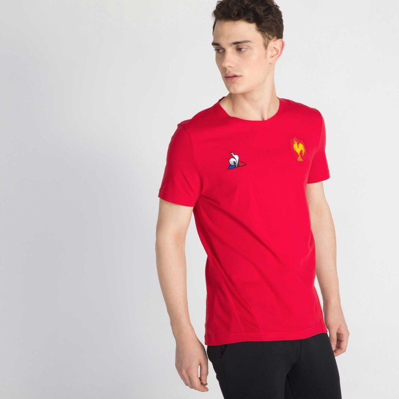 Tshirt Rugby Fitness Rouge FFR / Le Coq Sportif