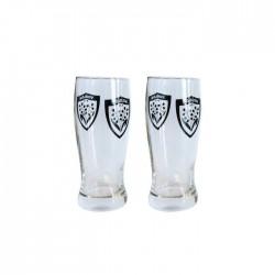 Deux verres 33 cl à bière Rugby Toulon / RCT