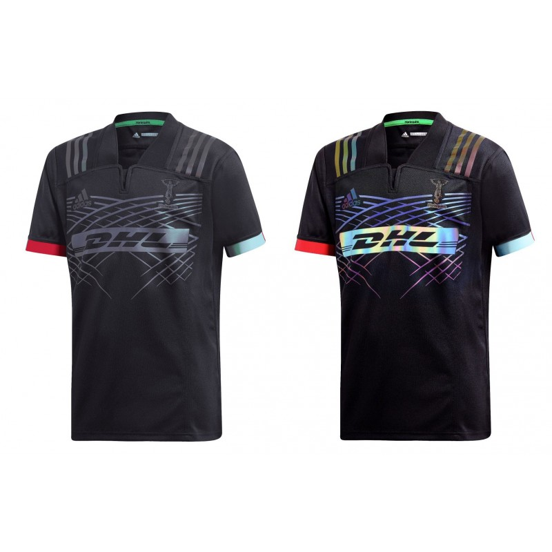 Flash Harlequins Adulte Enfant Adidas 2019 2018 Rugby Maillot 5Cq8x