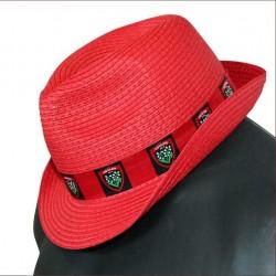 Chapeau Panama rouge rugby Touylon / RCT