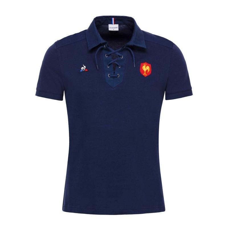 Polo rugby Fan à lacet FFR 2018-19 / Le Coq Sportif