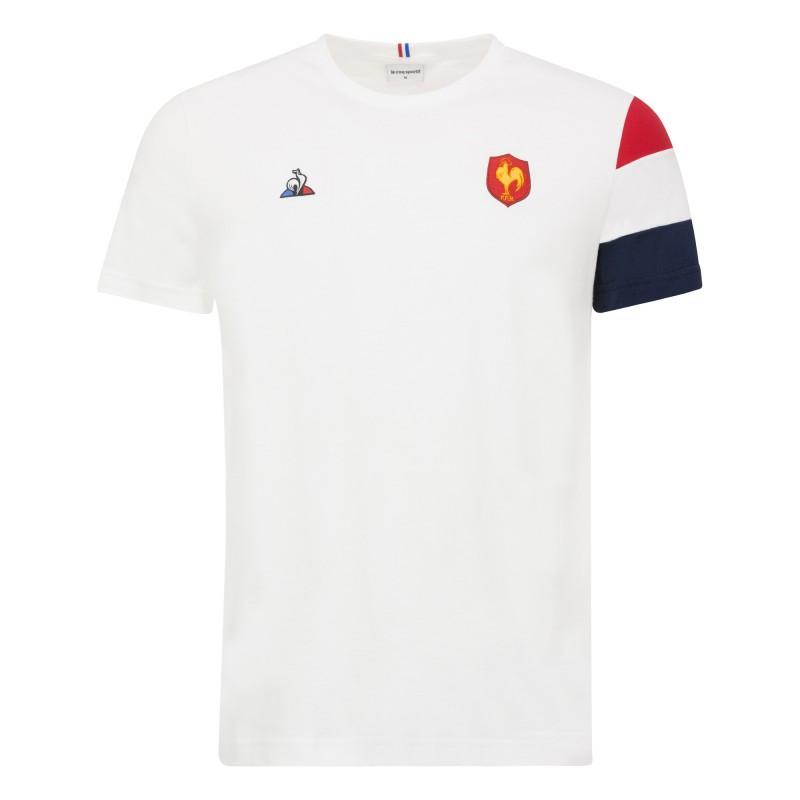 T-shirt Rugby Fan Blanc FFR / Le Coq Sportif