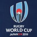 Sweat à capuche bleu pour homme / RWC 2019
