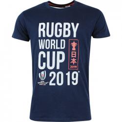 Camiseta Negra Logotipo para Hombres / RWC 2019