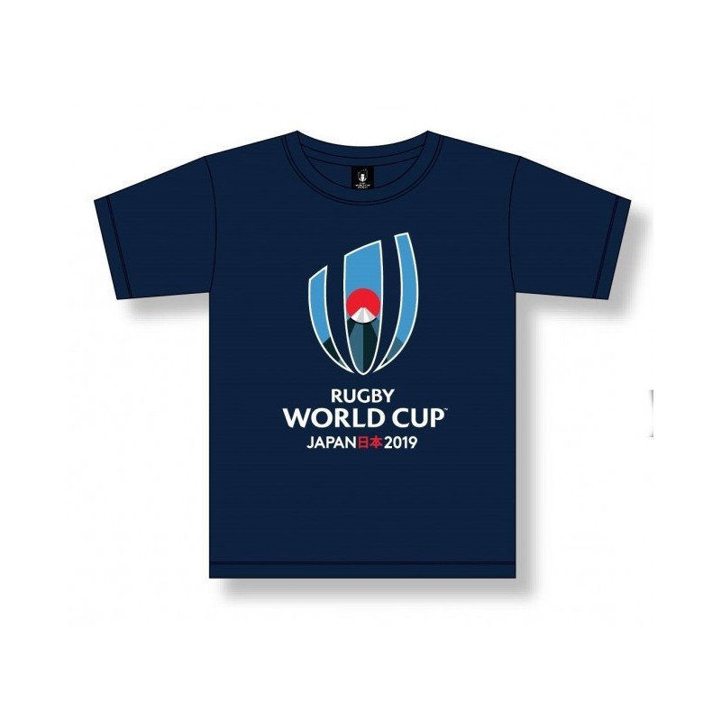 T-shirt Logo Homme Bleu marine / RWC 2019