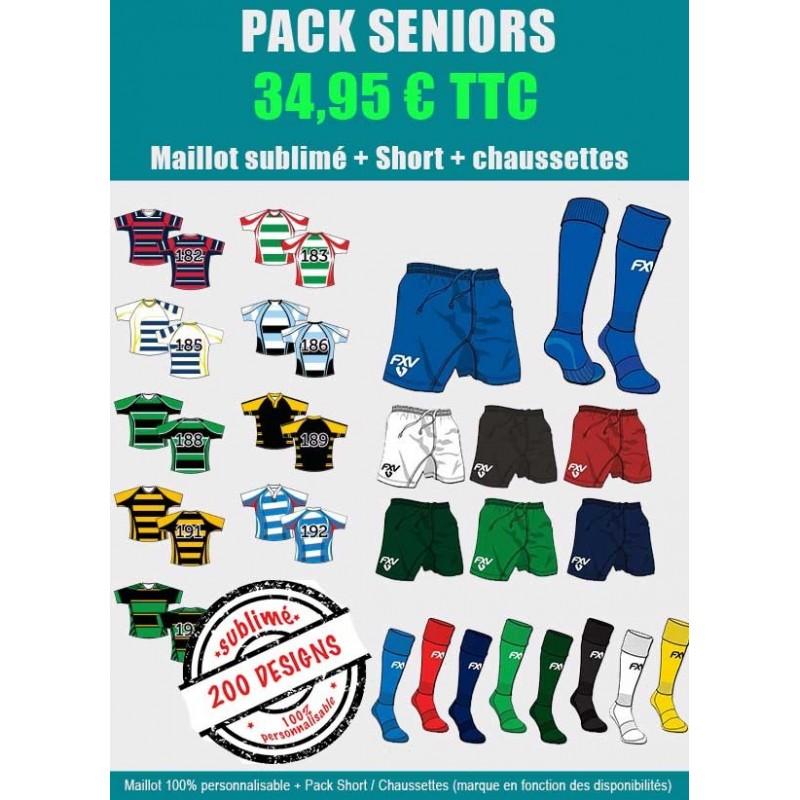 Pack Rugby Senior Maillot-Short-Chaussettes Premier Prix