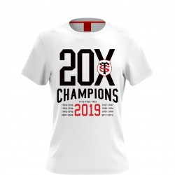 T-shirt Rugby CHAMPION blanc Stade Toulousain