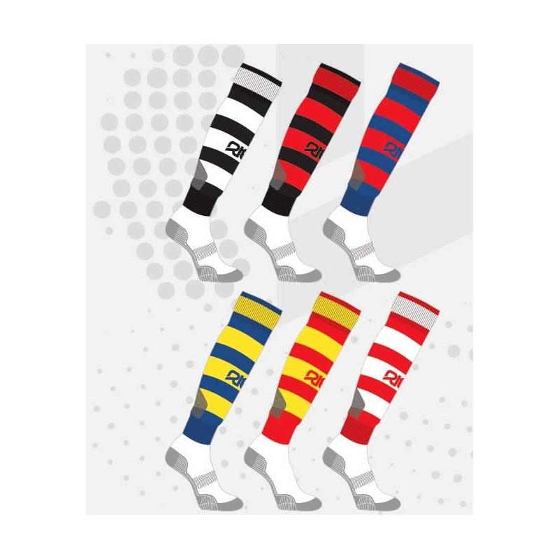 Chaussettes rugby rayées NODZ / RTEK