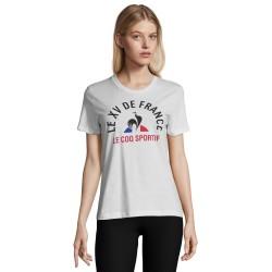 T-shirt Rugby Femme Fan FFR Blanc / Le Coq Sportif