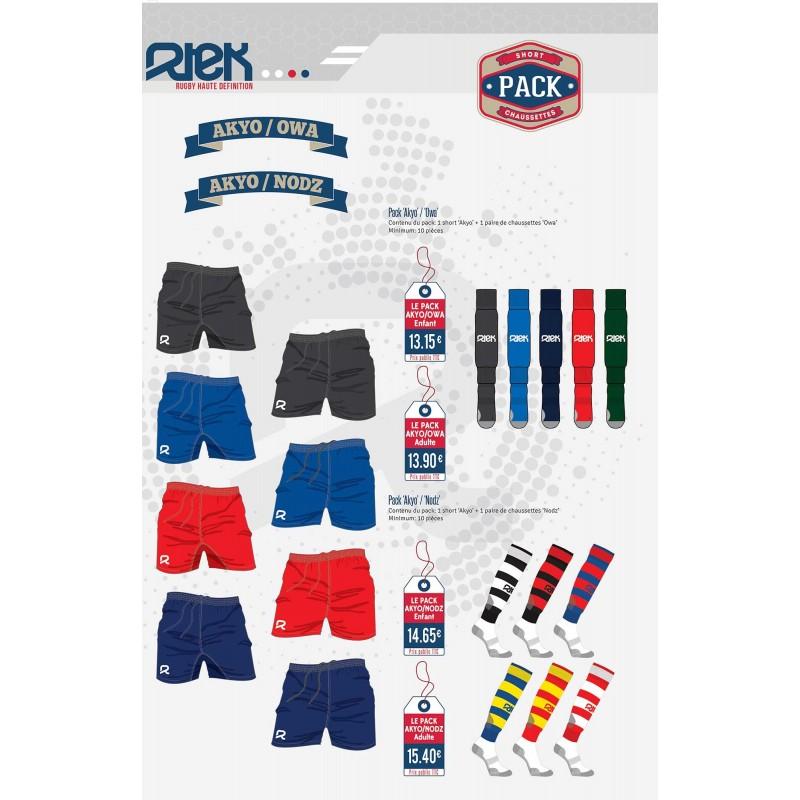 Pack Rugby Short-Chaussettes / RTEK