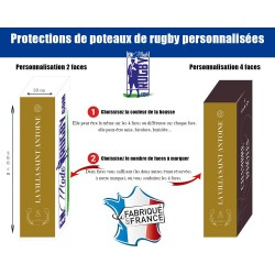 Protection Poteaux Rugby personnalisées 1er prix / Direct usine