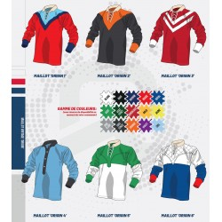Maillot Rugby Coton Vintage Personnalisable / RTEK
