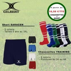 Pack Short Saracen - Chaussettes Training / Gilbert