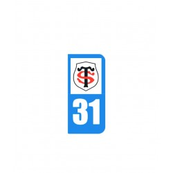 Sticker plaque immatriculation / Stade Toulousain