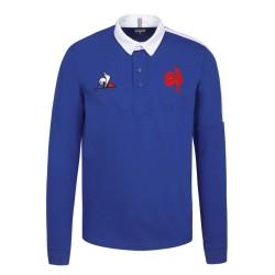 Polo Supporteur XV de france Bleu Royal / Le Coq Sportif