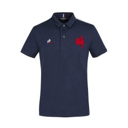 Polo Supporteur XV de france Bleu Royal / Le Coq Sportif
