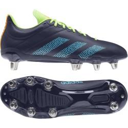 Chaussure Rugby Kakari SG 8 crampons Noir-Fluo / Adidas
