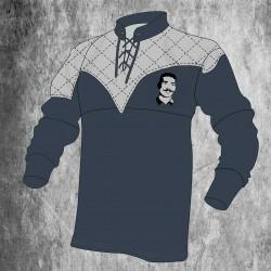 Camiseta de rugby gris vintage con cordones / Millésime Rugby