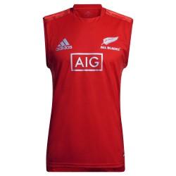 Débardeur rugby All Blacks Performance rouge / Adidas