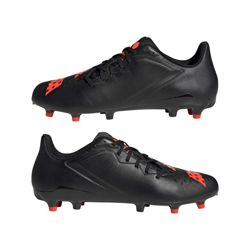 Chaussure Rugby Moulée Malice Noir-Rouge Solaire / Adidas