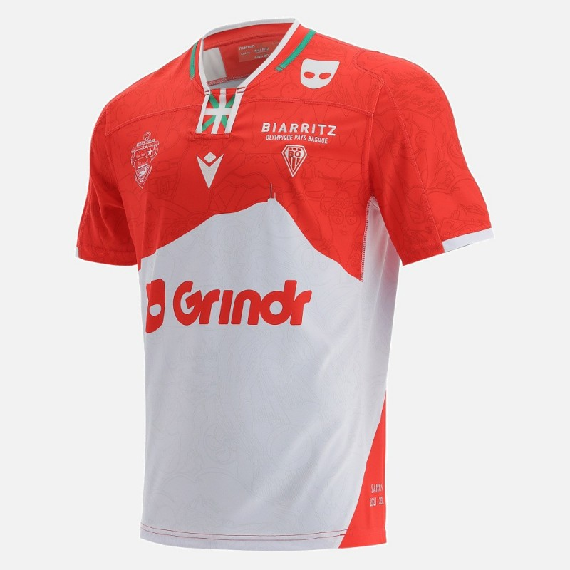 Maillot Rugby Domicile Biarritz 2022 Macron