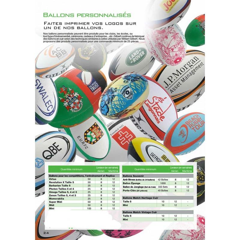 Ballons Rugby Personnalisés / Gilbert