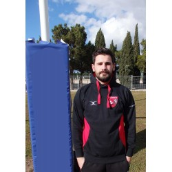 Sweat Vapour Rouge-Noir Rugby / CO Berre XV
