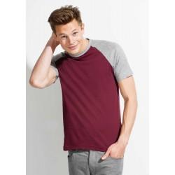 T-shirt bicolore Col Rond Manches Courtes Adulte