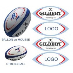 Ballon anti-stress Rugby Personnalisé / Gilbert