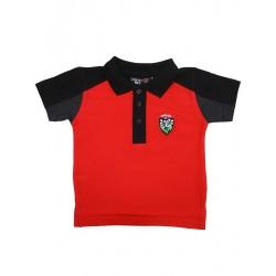 Polo Rugby Enfant Rouge et Noir / RC Toulon