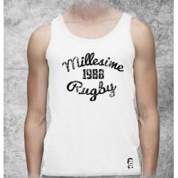 Débardeur Millésime Rugby Blanc / 1988