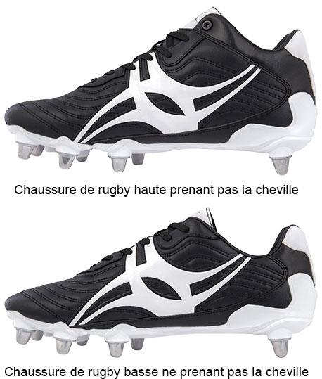Quelle est la différence entre une chaussure de rugby haute et basse ?