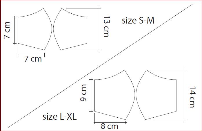 Guide des tailles des masques hygiéniques personnalisables